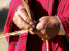 7 February 2010 - The hands of a Bolivian boatbuilder