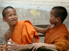 13 June 2010 - Young novice monks in Vientiane, Laos