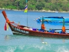 14 August 2011 - Long-Tail Boat on Kata Beach, Phuket, Thailand
