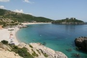 Read Reaching for Vuno's Clean Beach at Jal, Albania