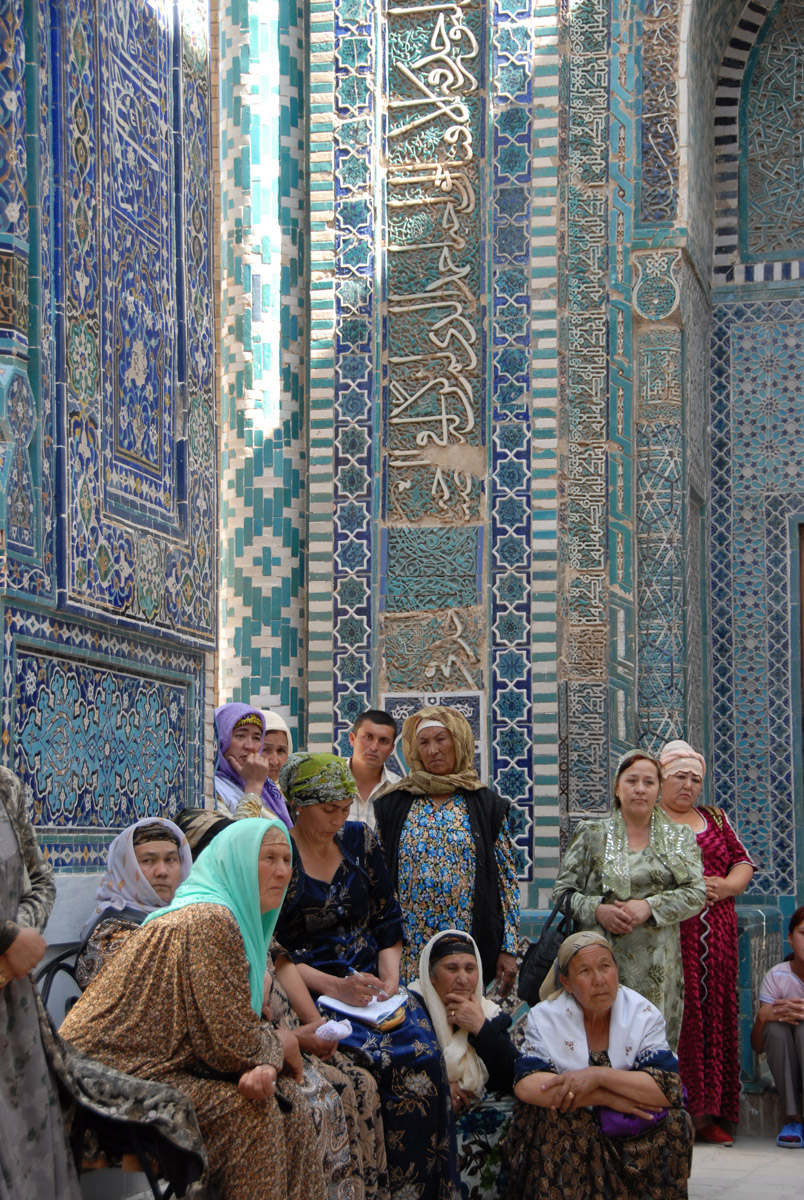 Shaki-Zinda Necropolis in Samarkand is special to Muslim people, for it houses mausoleums and mosques.