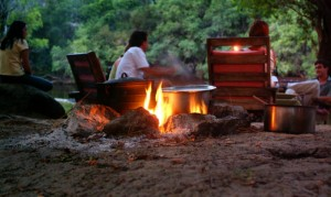 Dinner in the great outdoors is a treat offered by many of the camps within Kafue National Park