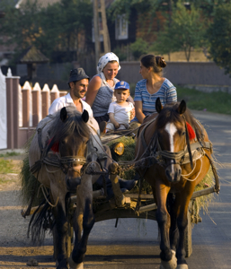 Village transport in the Iza Valley of Romania.<br> Photo courtesy of Rough Guides