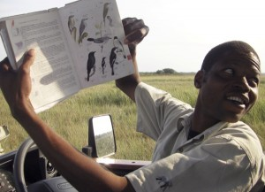 Tom Mahamba, a local guide in South Afirca's Tembe Elephant Park, is full of tales and information about the park's birds