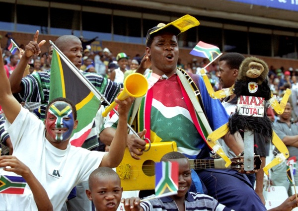 Supporters of Bafana Bafana, the South Africa national soccer team (photo courtesy of South African Tourism)