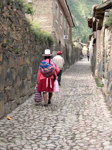 Women dressed in traditional attire, especially their bowler hats, are a common sight throughout the Sacred Valley. Remember to be respectful if you would like a take a photo; always ask first. Many people will request a tip for photo privileges.