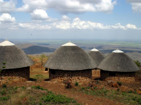 Shewula Mountain Camp sits on a plateau of the Lubombo Mountains with views out to large parts of central and northern Swaziland