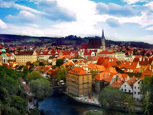 Dominated by a castle built during the 13th Century, the medieval town of Český Krumlov in the Czech Republic has maintained its historic character and is a UNESCO World Heritage Site. Photo courtesy of Flickr.com/Midweekpost