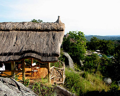 Uganda's sumptuous Mihingo Lodge is bush chic at its best. Each of its 10 secluded rooms is raised on stilts, covered with a thatched roof and offers fabulous views of nearby Lake Mburo National Park.