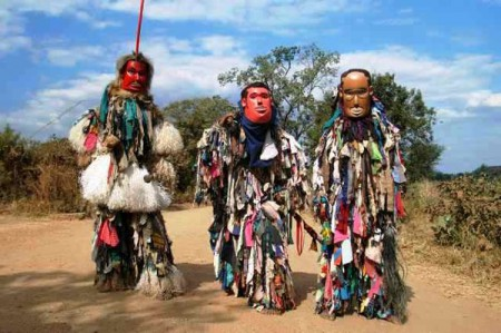 The Gule Wamkulu, or Great Dance, is a masked ritual and symbolic dance performed in Malaw