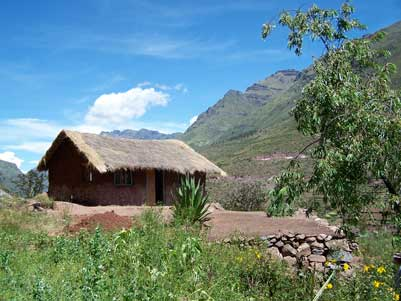 The Kusi Kawsay schoolhouse is situated at the base of the Pisac archaeological site