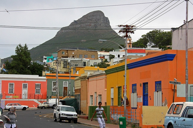 The Bo-Kaap is an area of Cape Town known for its cobblestone streets