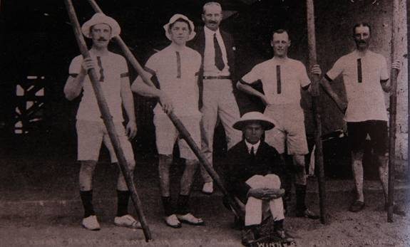 The winners of the coxed fours at the first Zambezi International Regatta in 1904