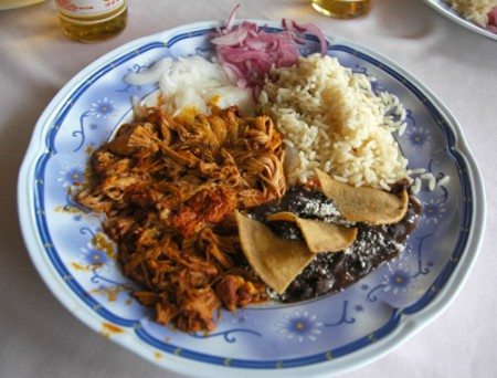 This is a traditional Yucatecan slow-roasted pork dish