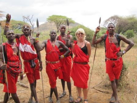 Irishwoman Susan Fanning at Bush Adventure's Maasai Warrior Training program. Photo courtesy of Off The Radar.