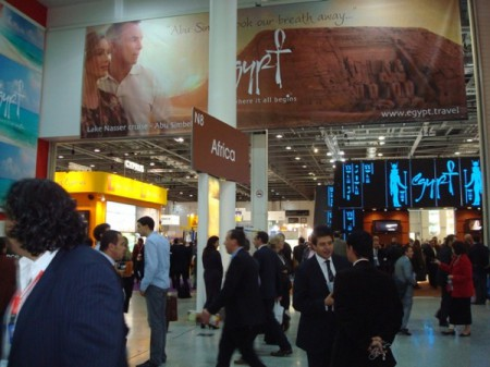 The Egypt stand in the Africa section of the World Travel Market 2010