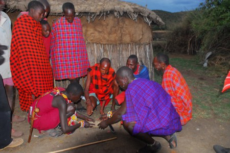 The Masai people of the Mara Game Reserve, Kenya
