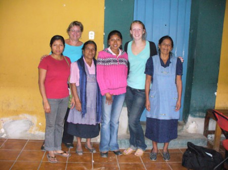 Tutors with English students in Teotitlán del Valle, Oaxaca, Mexico