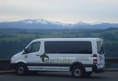 An ecoShuttle van, Portland Oregon