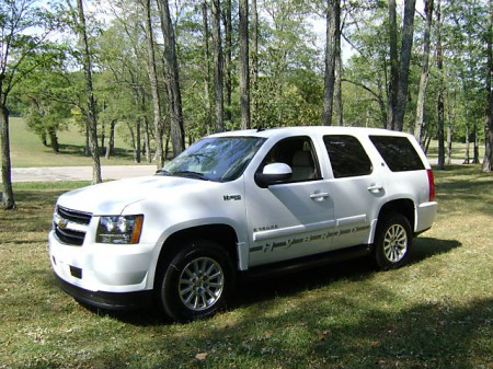 This eco-friendly Chevrolet Tahoe hybrid belongs to the Green Limousine's fleet in the Vail Valley of Colorado