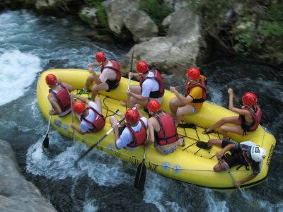 Rafting on the Cetina River, Split Croatia