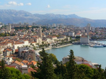 View of Split, Croatia from Marjan Hill