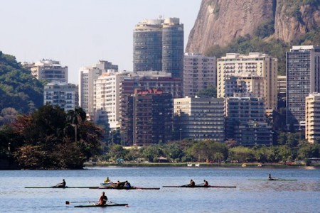 Rowing and Kayaking are popular water sports in Rio de Janeiro, Brazil