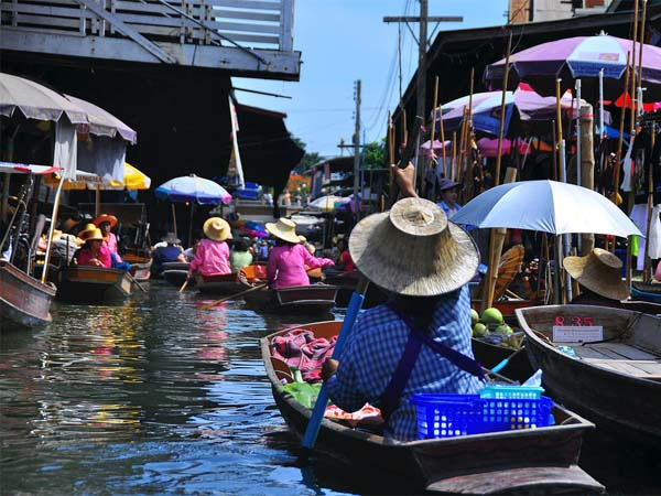 The Floating Market of Bangkok, Thailand