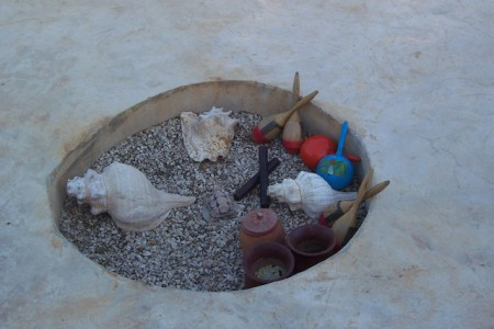 Additional instruments used in a temazcal