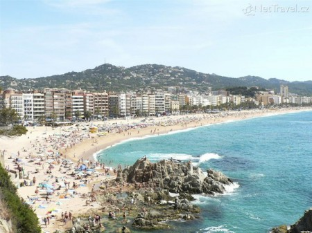 The coastal town of Lloret de Mar, north of Barcelona, Spain