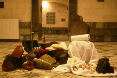 A traditional Turkish bath requires between 15 and 20 different accessories