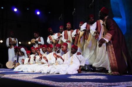 Tanzanians at the the African Spirit night of the 2010 World Sacred Music Festival in Fes, Morocco