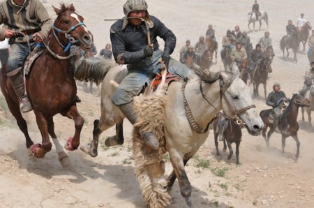 A champion Buzkashi 'chovandoz' is both fierce and highly skilled