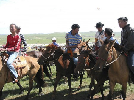 Preparing for Naadam horse sports in Mongolia