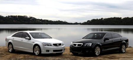 Two Holden Stateman Caprice sedans of Corporate Cars Australia