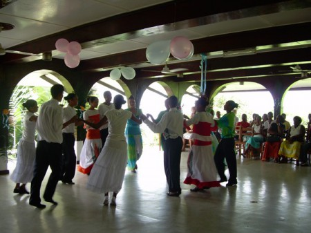 A contredance in the Seychelles