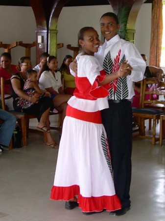 Traditional dance costumes in the Seychelles