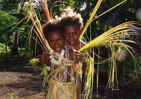 Girls on Malekula Island, Indigenous culture tours, Vanuatu