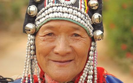 An Akha woman. Indigenous culture tours, Thailand Hilltribes