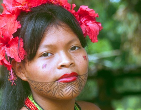 Embera woman, indigenous culture tours, Panama
