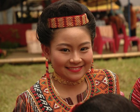 Toraja girl in traditional costume, Sulawesi, Indonesia