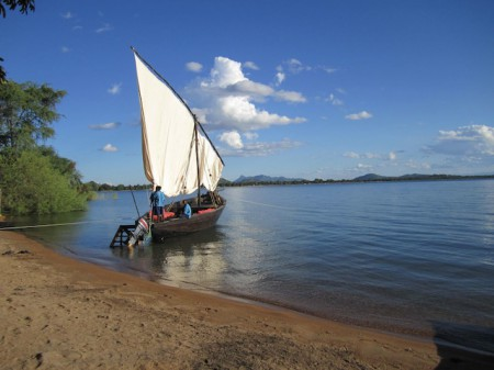 A dhow in Lake Malawi