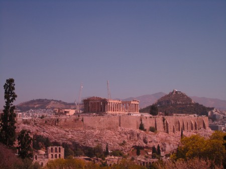The Parthenon of the Acropolis, Athens, Greece