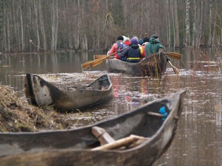 Haabja (One-Log Canoe) in Estonia