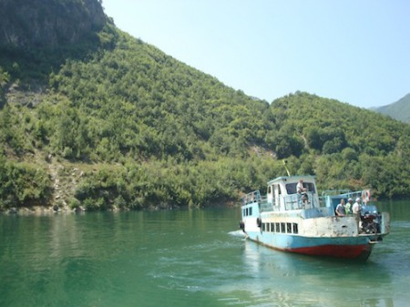 Lake Koman Ferry in Northern Albania