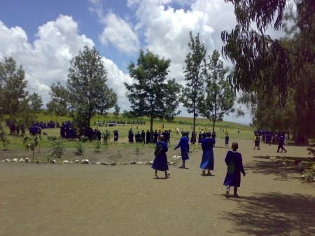 Students on the playground, Ilkurot, Tanzania