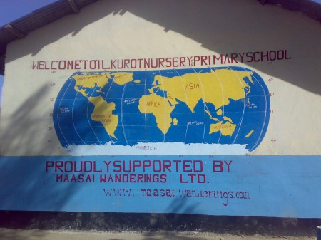 Welcome Wall 450x337 Global Basecamps Ilkurot Village Community Projects Promote Education for Maasai Children in Tanzania