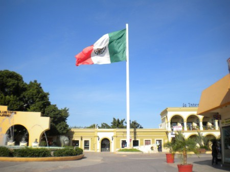 The main square of San Jose del Cabo, Mexico