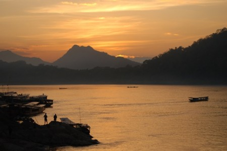 Laos Luang Prabang mekong sunset 450x300 Luang Prabang, Laos P.D.R. – Please Don't Rush