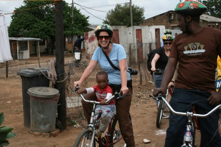 Soweto cycling tour, Johannesburg, South Africa